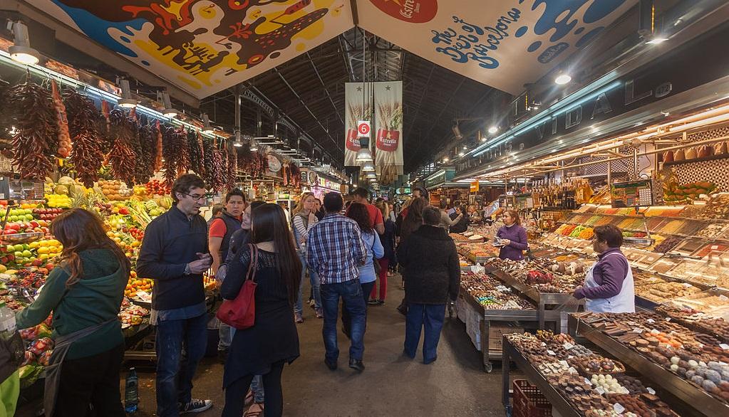 Mercado de La Boqueria By Lmbuga (Own work)